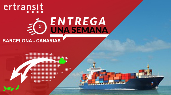 """ERTRANSIT LANZA EL SERVICIO """"CANARIAS ENTREGA UNA SEMANA"""""""